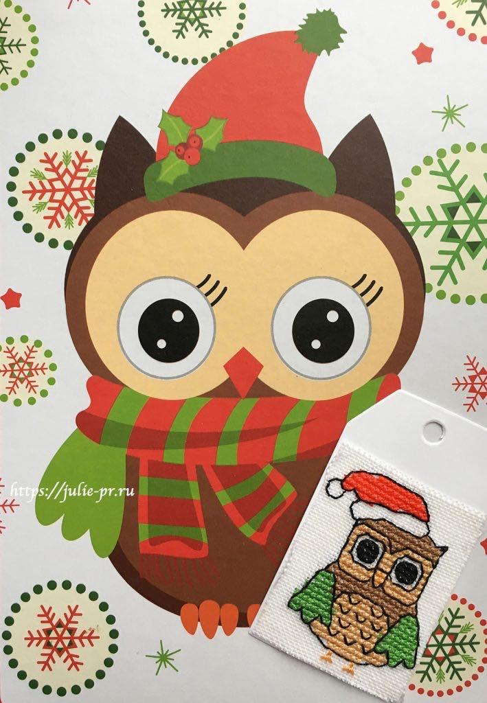 Вышивка крестом сова / Owl I want for Christmas Kerry Morgan из журнала Crossstitcher №272