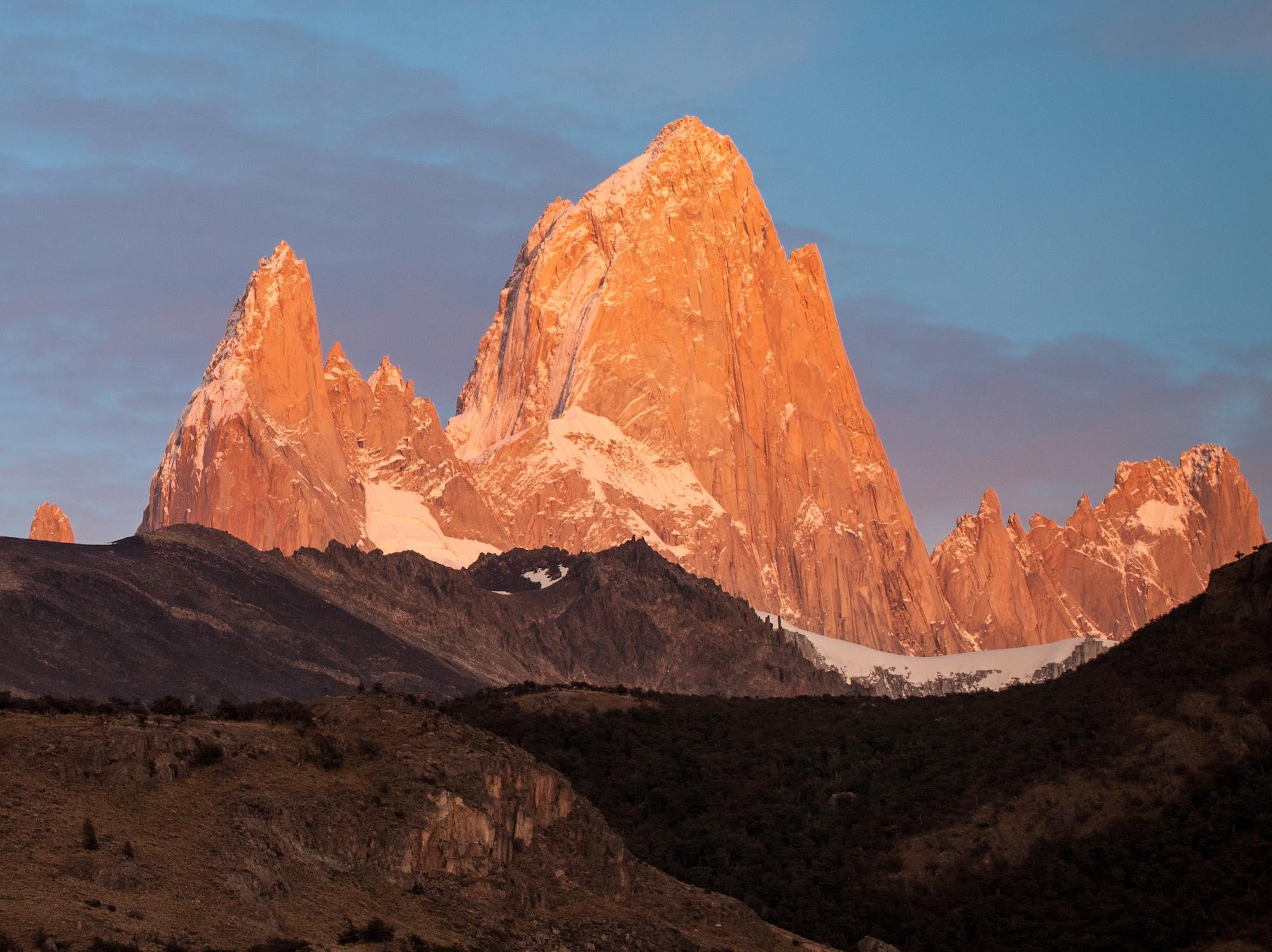 Аргентина, Патагония, гора Фицрой на рассвете