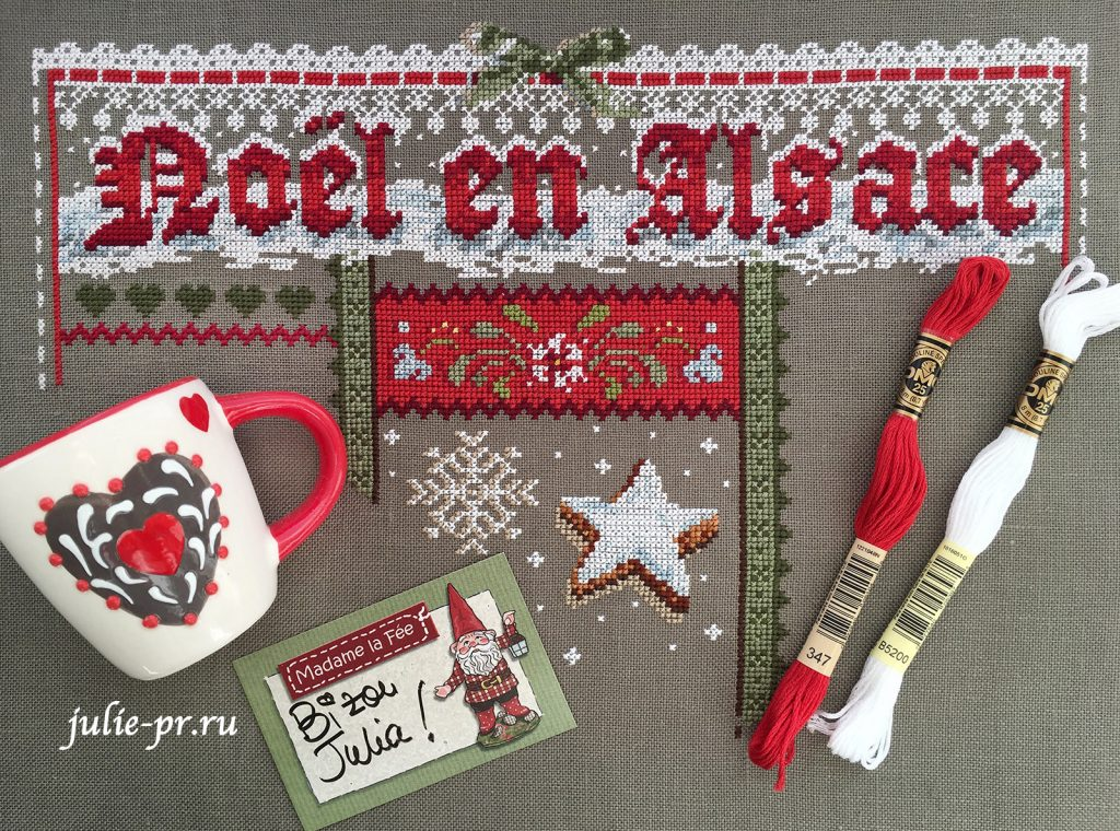 Вышивка крестом Madame la Fee - Noel en Alsace / Рождество в Эльзасе
