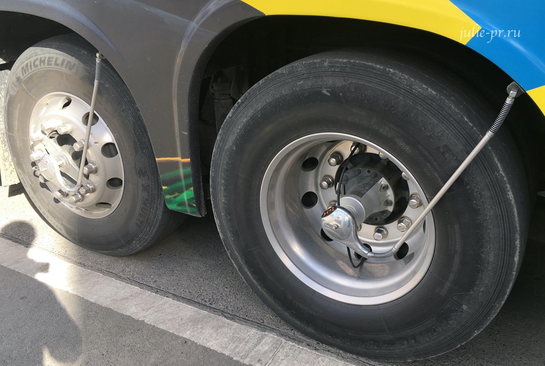 Аргентина, автобус, система подкачки колёс
