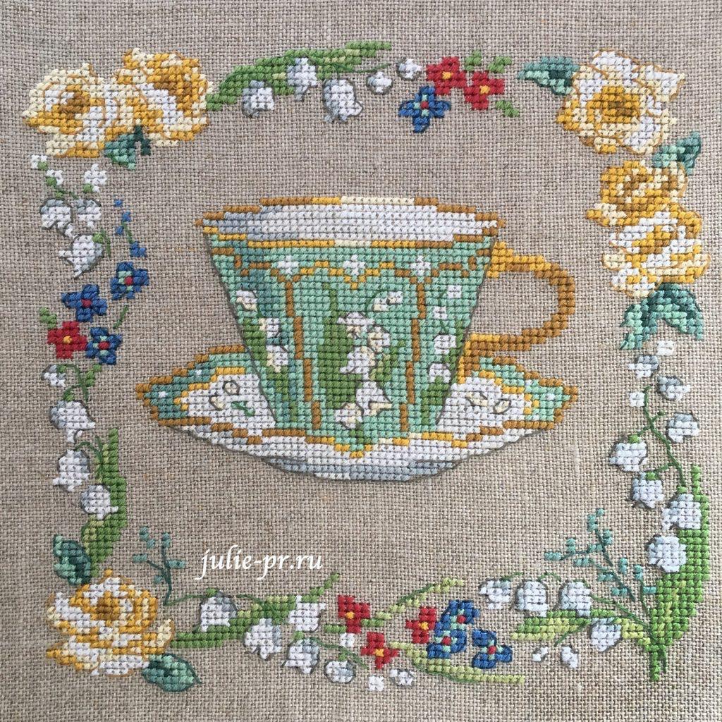 Коллекция чашек, Парижские вышивальщицы, collection de tasses, les brodeuses parisiennes, Veronique Enginger, чашка с ландышами