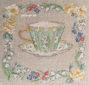 Коллекция чашек, Парижские вышивальщицы, collection de tasses, les brodeuses parisiennes, Veronique Enginger, чашка с маргаритками