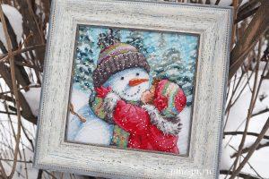 Dimensions 08833 -A Kiss For Snowman / Поцелуй для снеговика
