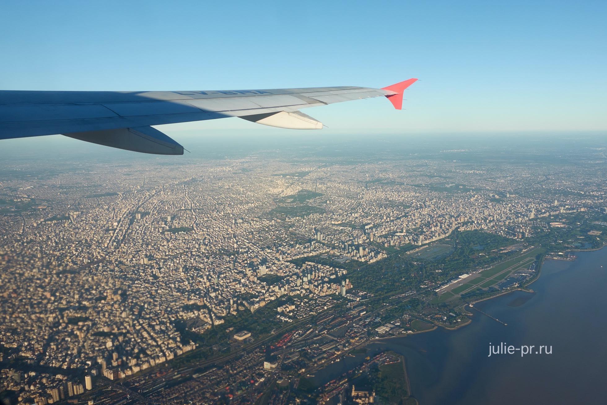 Аргентина, Буэнос-Айрес с самолёта