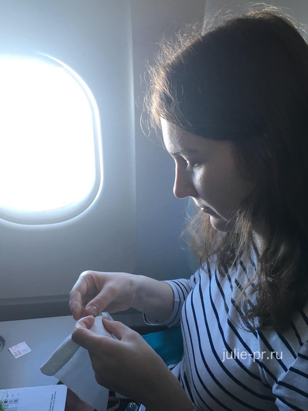 Аргентина, вышивка в самолёте