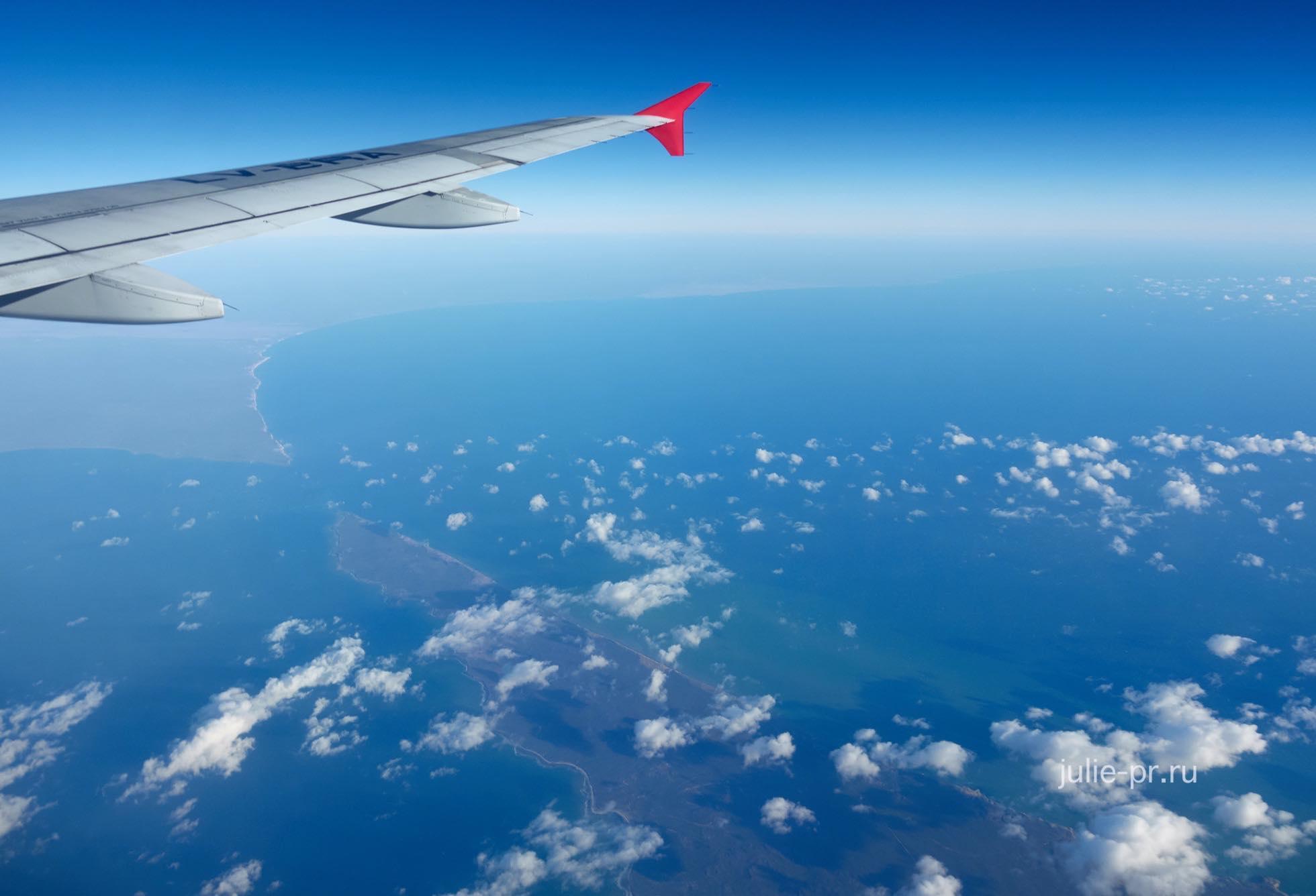 Аргентина, полуостров Вальдес с самолёта