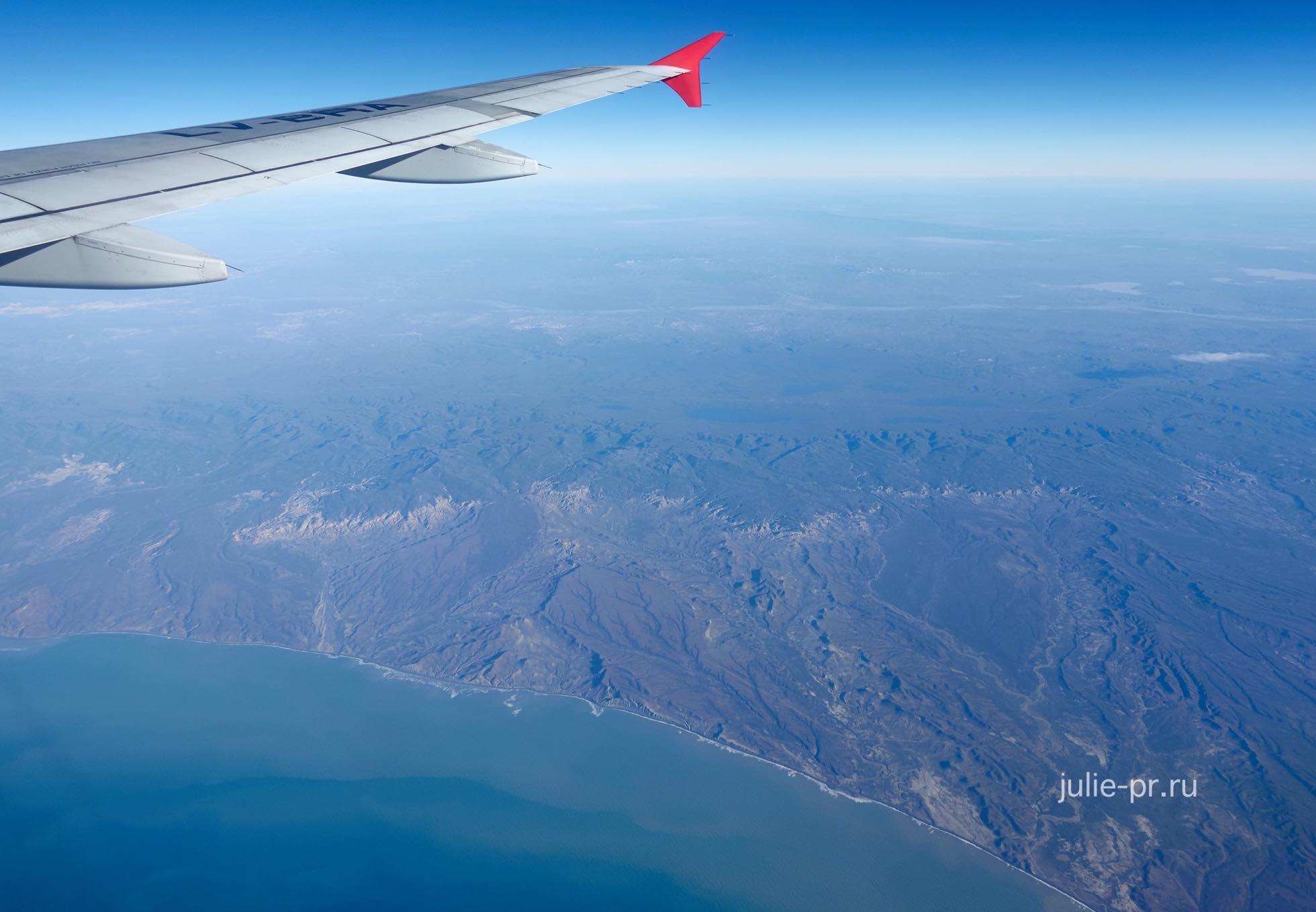 Аргентина, атлантическое побережье с самолёта