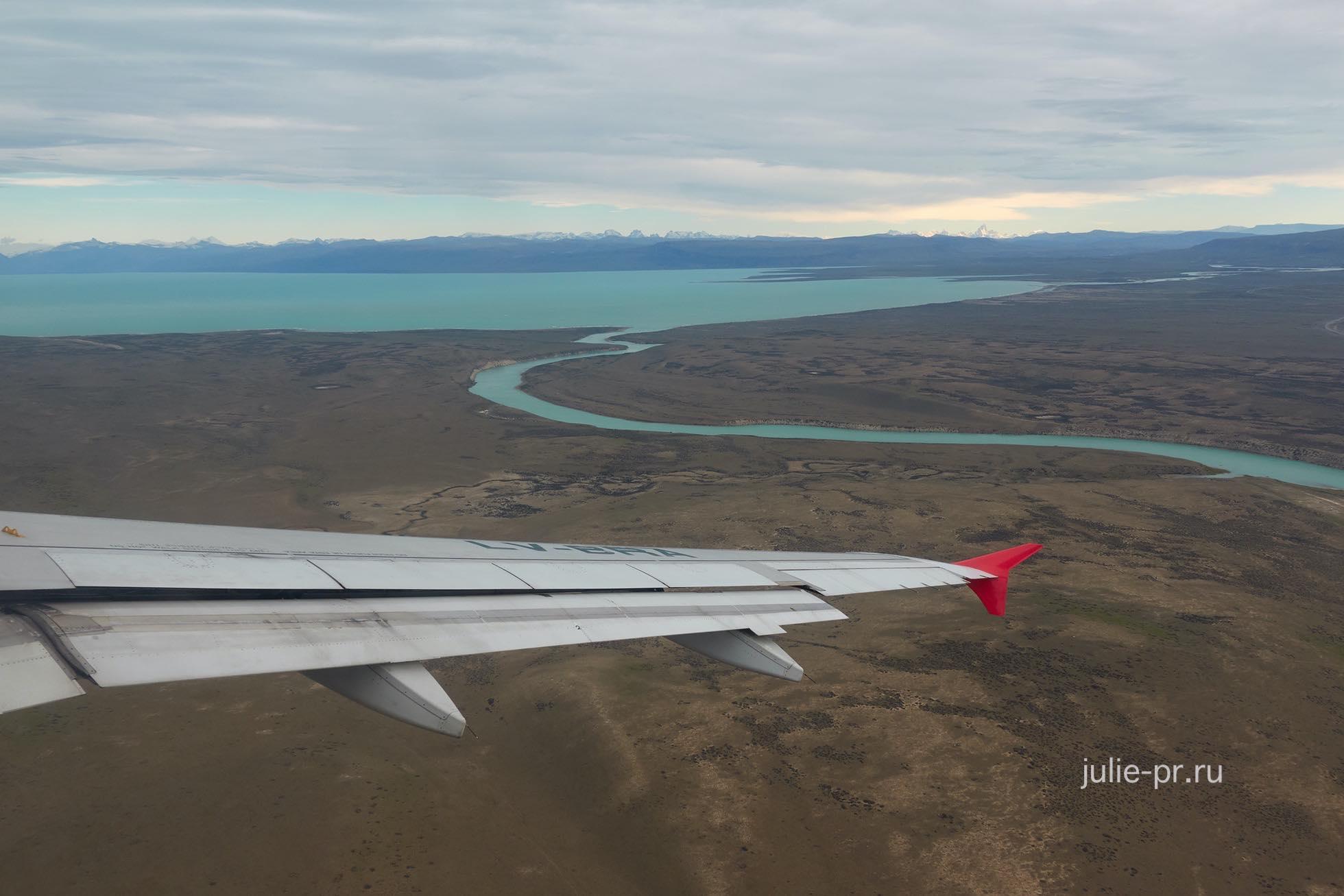 Аргентина, Патагония, Лаго-Архентино с самолёта