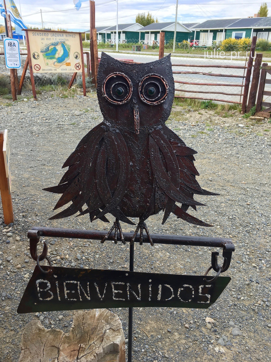 Аргентина, Патагония, Эль-Калафате, лагуна Нимез, фигура совы