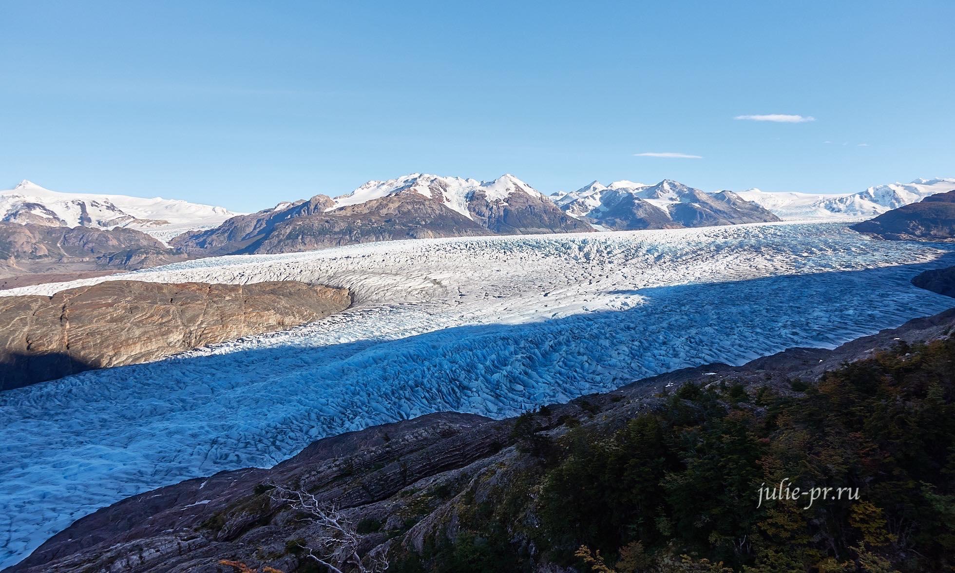 Чили, Патагония, Торрес-дель-Пайне, ледник Грей