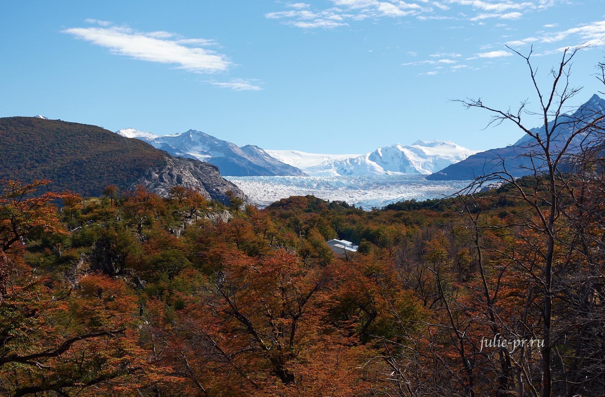 Чили, Патагония, Торрес-дель-Пайне, ледник и лагерь Грей, осень