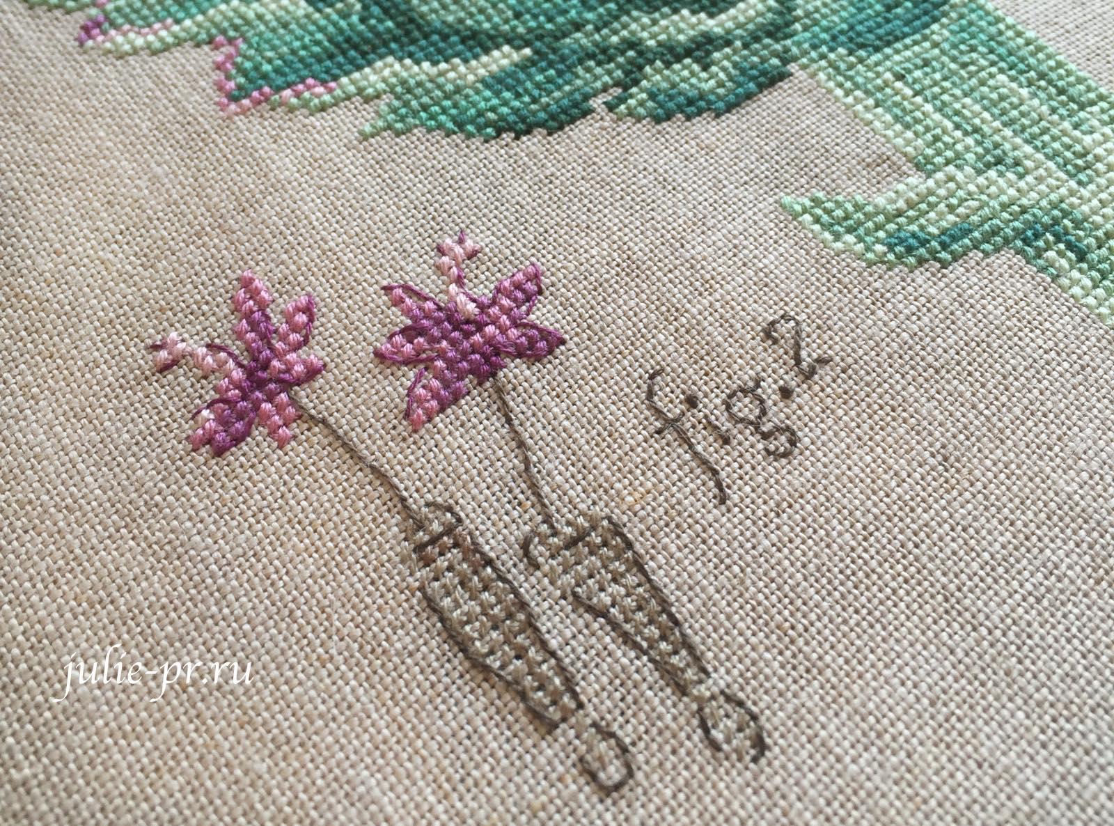 Артишок, вышивка крестом, Veronique Enginger, les brodeuses parisiennes, парижские вышивальщицы