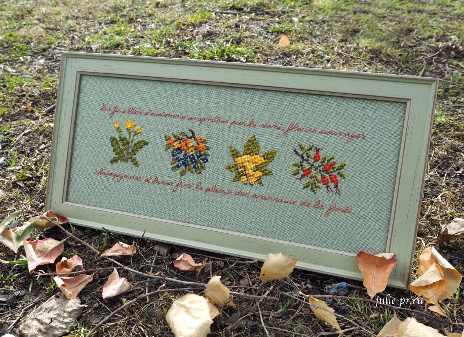 Вышивка крестом Frise d'automne Le bonheur des dames, Дамское счастье, дистанционное оформление вышивки