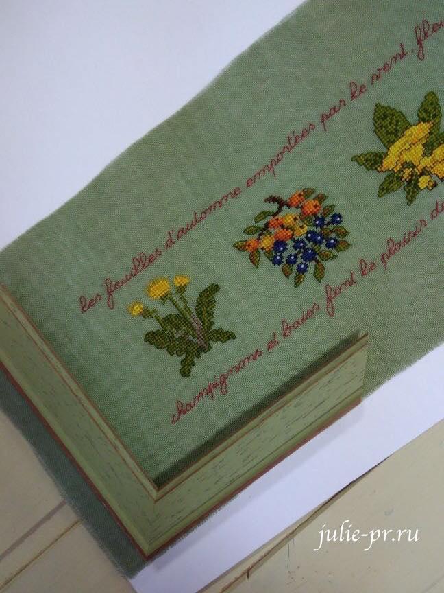 Вышивка крестом Frise d'automne Le bonheur des dames, Дамское счастье, дистанционное оформление вышивки, багет-корсет