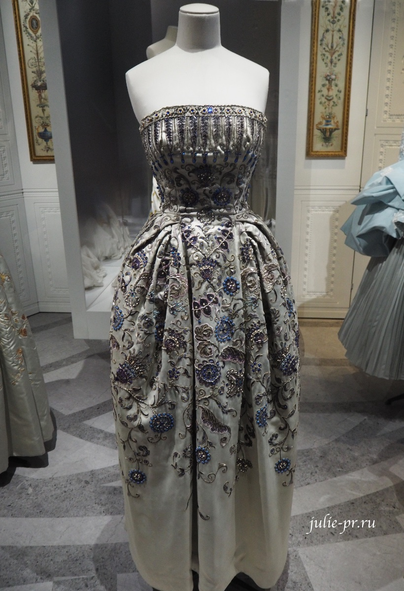 Платье Palmyre, Пальмира, Christian Dior, haute couture осень, зима 1952-1953, вышивка