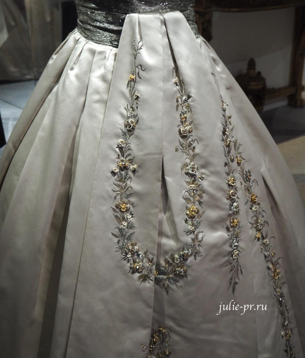 Платье Soiree Fleurie (Christian Dior haute couture осень/зима 1955). Вышивка