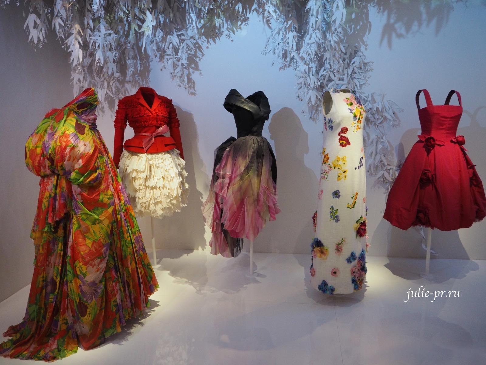 Сады Dior, Выставка Christian Dior: Couturier du reve, Кристиан Диор кутюрье мечты, Музей декоративного искусства, Musee des arts decoratifs, Париж