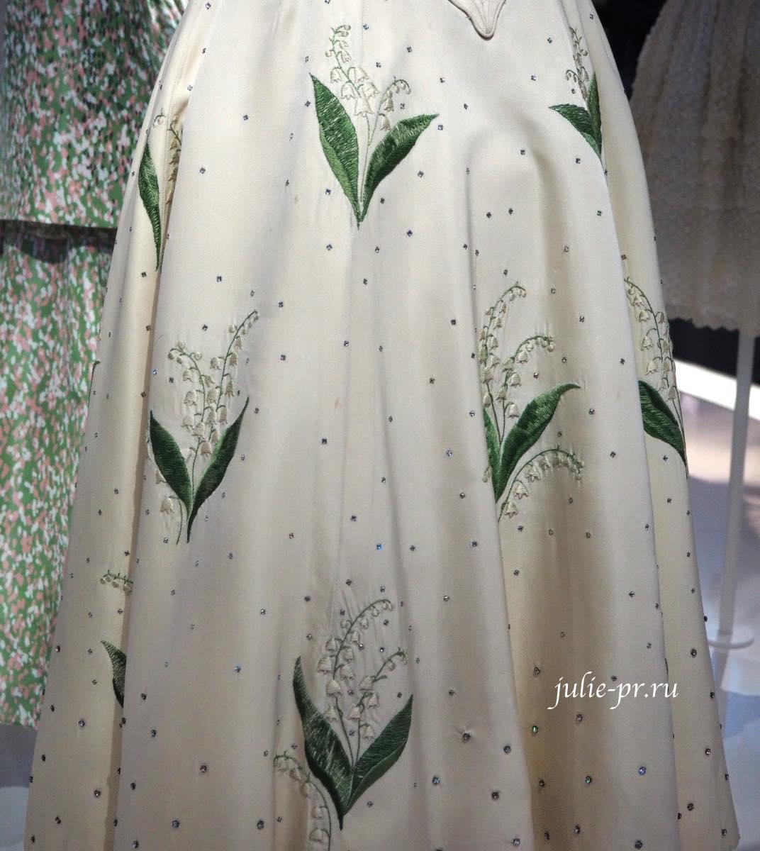 Платье с ландышами (Christian Dior Haute couture 1956). Вышивка