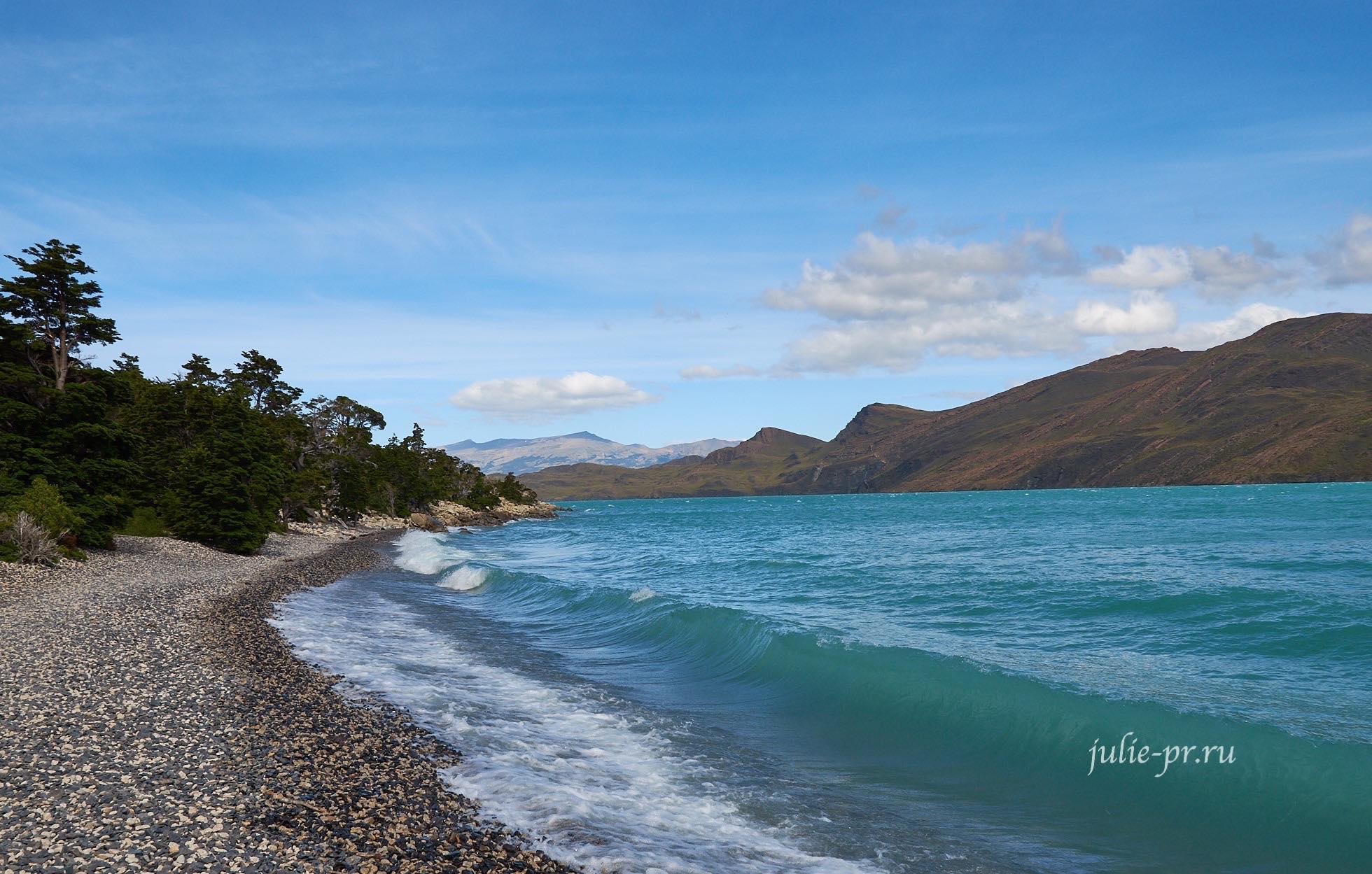 Чили, Патагония, Торрес-дель-Пайне, Озеро Норденшельд, Lago Nordenskjöld