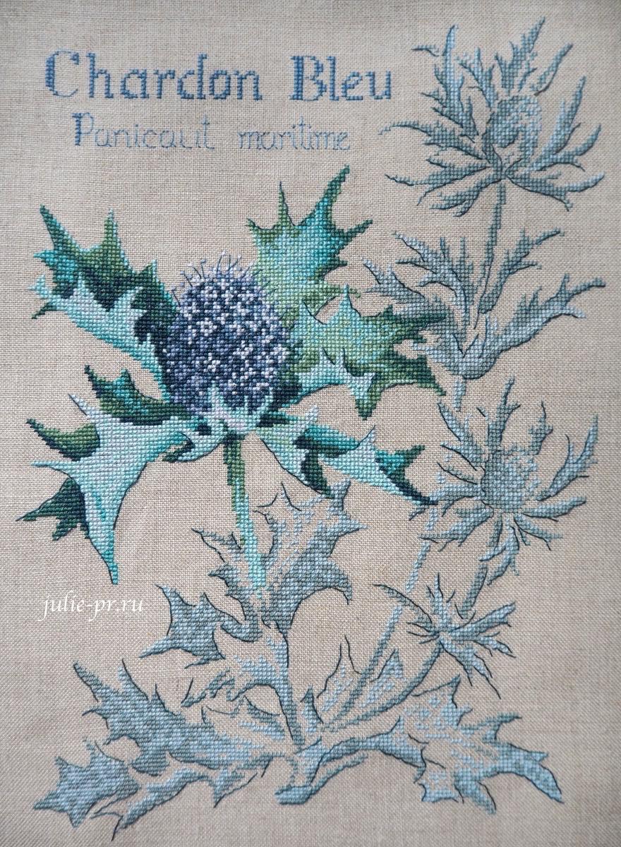 чертополох, вышивка крестом, Veronique Enginger, les brodeuses parisiennes, парижские вышивальщицы