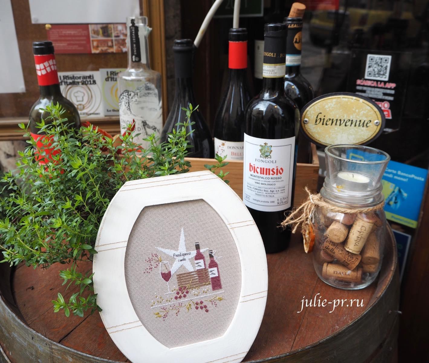 Вышивка крестом, Jennifer Lentini - 1803 Bordeaux / Бордо, вино, Une Croix, Le Temps D'un The