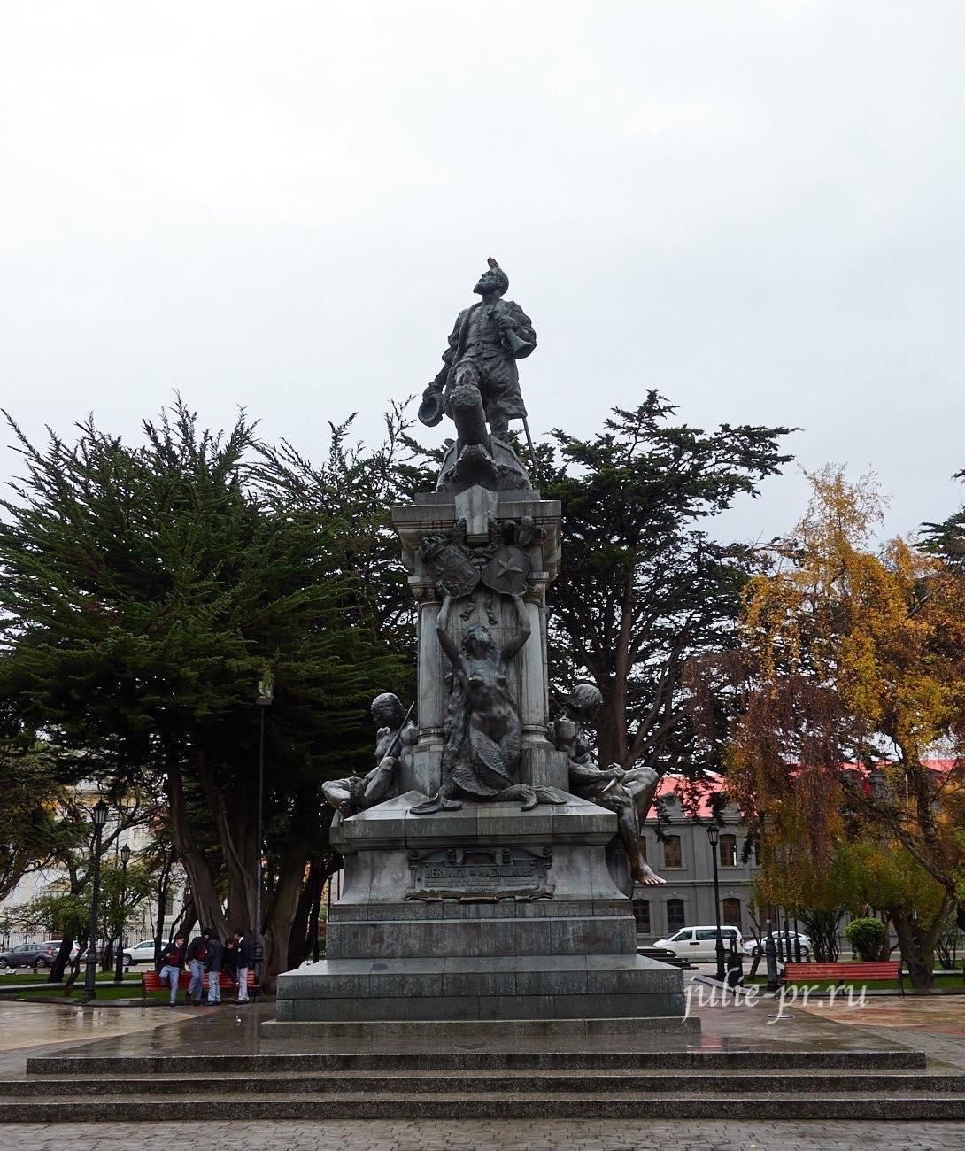 Чили, Патагония, Пунта-Аренас, Памятник Магеллану