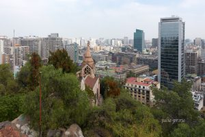Чили, Сантьяго, вид с холма Санта-Люсия