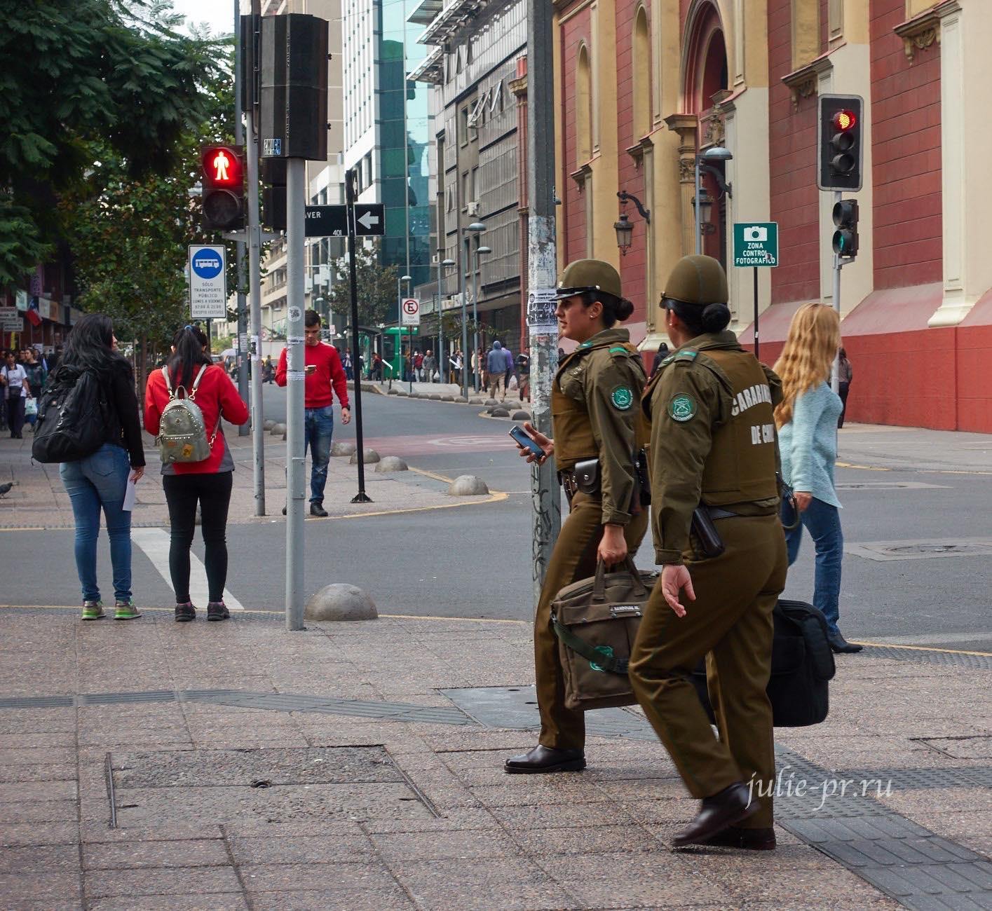 Чили, Сантьяго, Девушки-полицейские