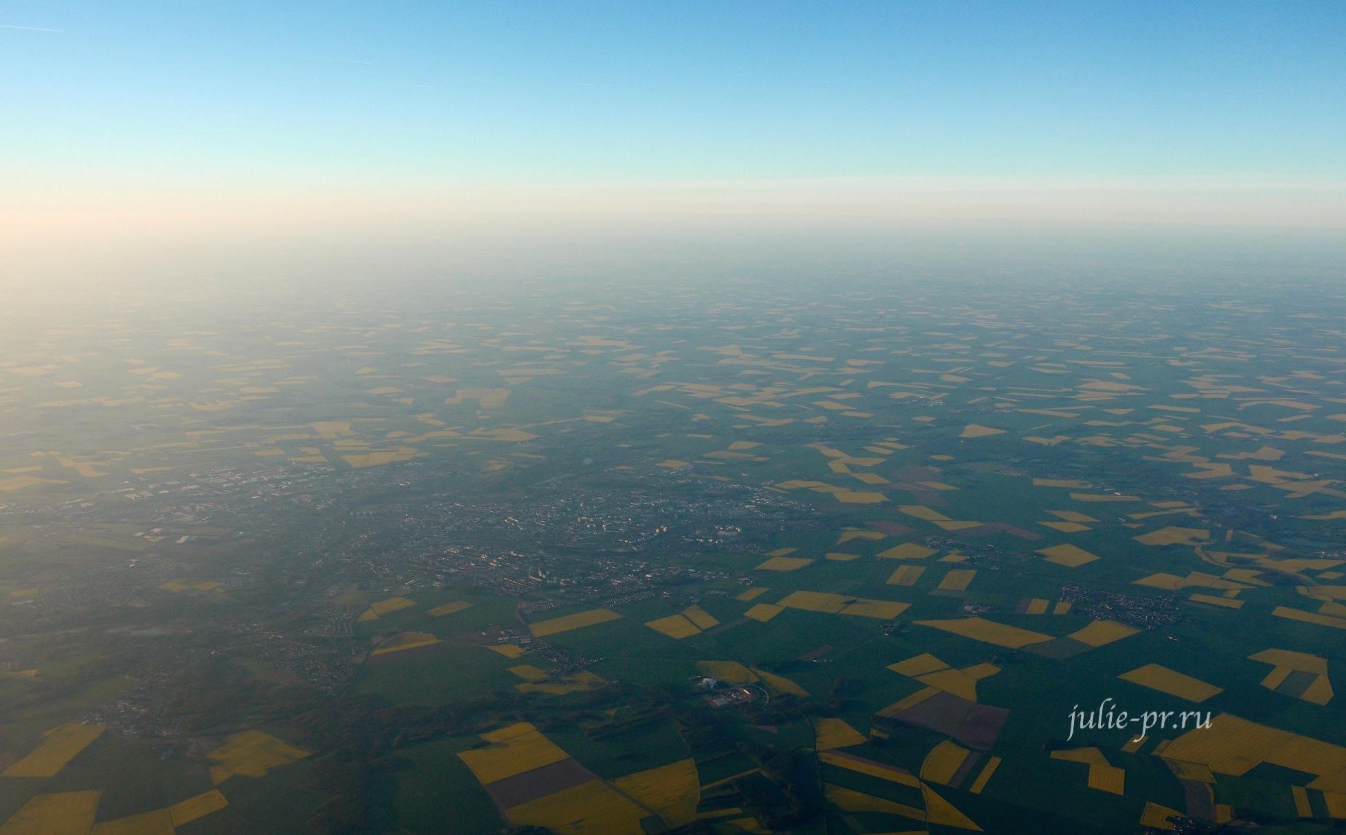 Франция вид с самолета