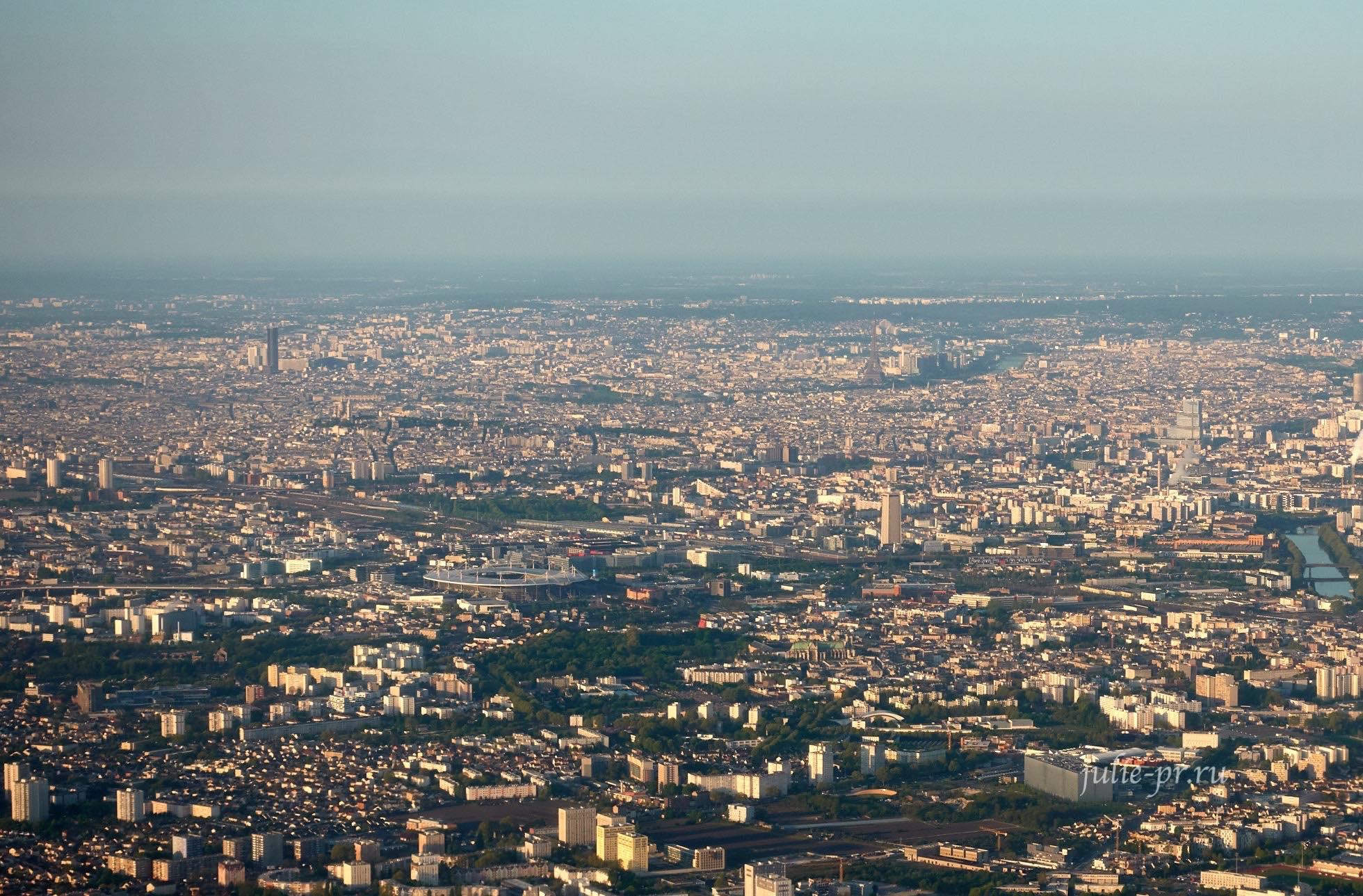 Франция, Париж вид с самолёта