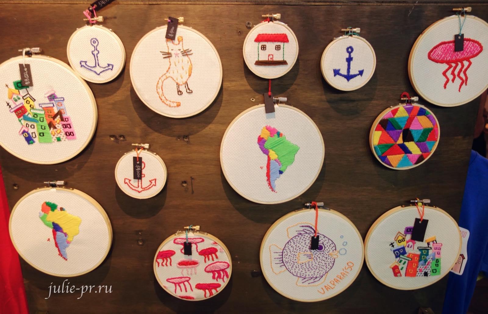 Чили, Вальпараисо, Сувениры с вышивкой