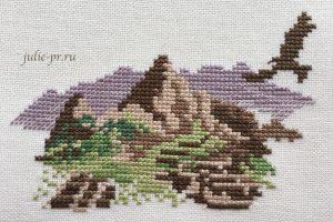 вышивка крестом, горы, книга Veronique Enginger Souvenir De Montagne