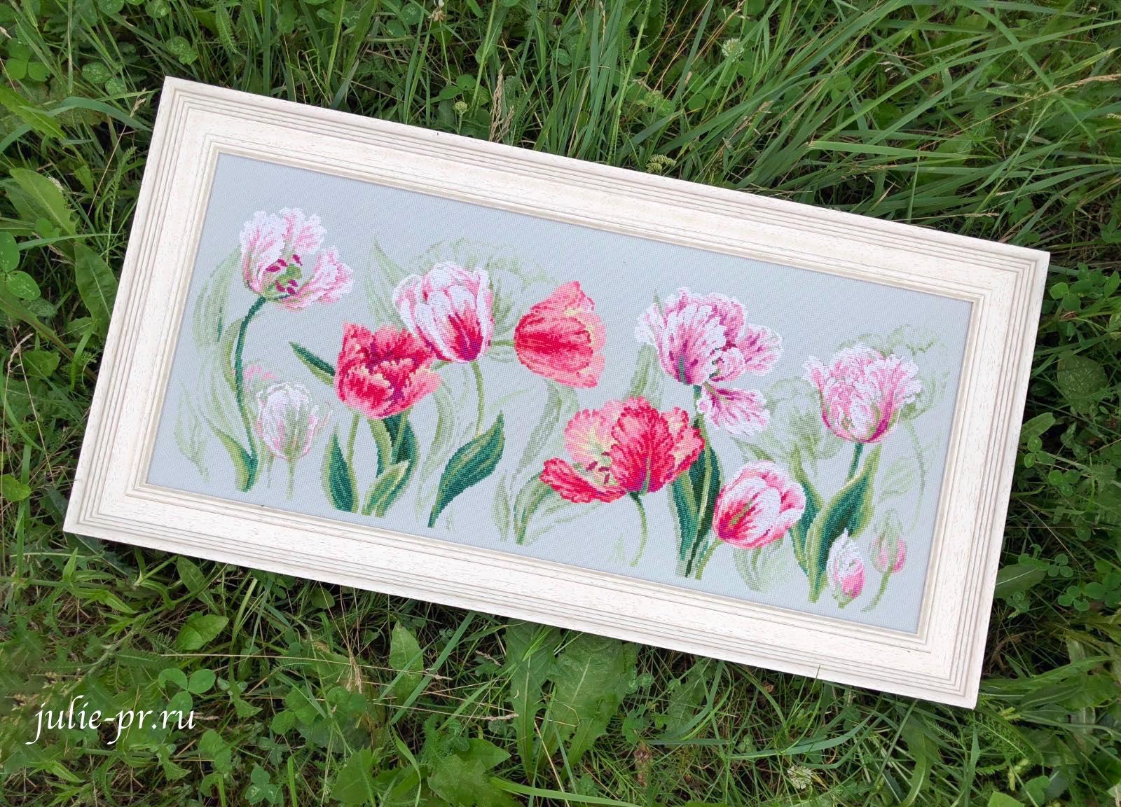 Вышивка крестом, Riolis Premium, 100/052, Весенние тюльпаны, Риолис