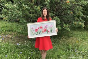 Вышивка крестом Riolis Premium 100/052 Весенние тюльпаны