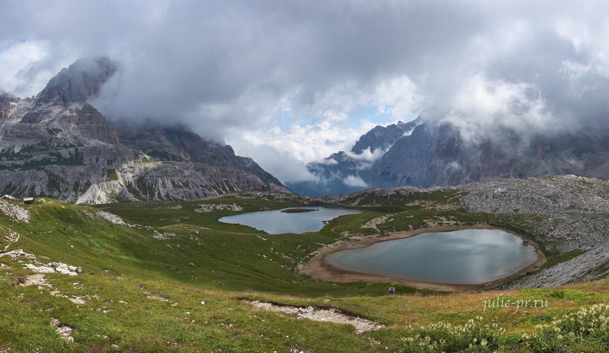 Италия, Альпы, Доломиты, горные озёра