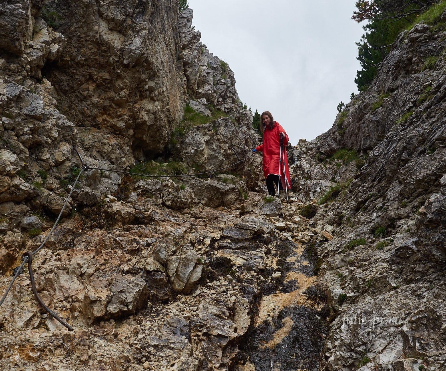 Италия, Альпы, тропа в Доломитах