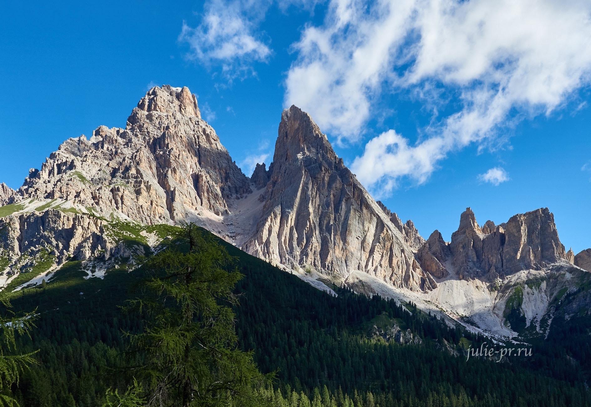 Италия, Альпы, Доломиты, гора Cristallo