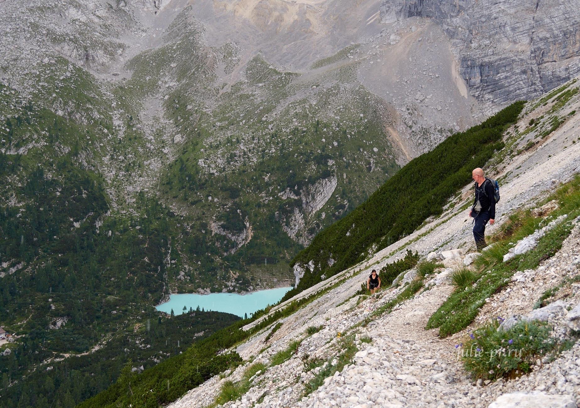 Италия, Альпы, Доломиты, озеро Sorapiss
