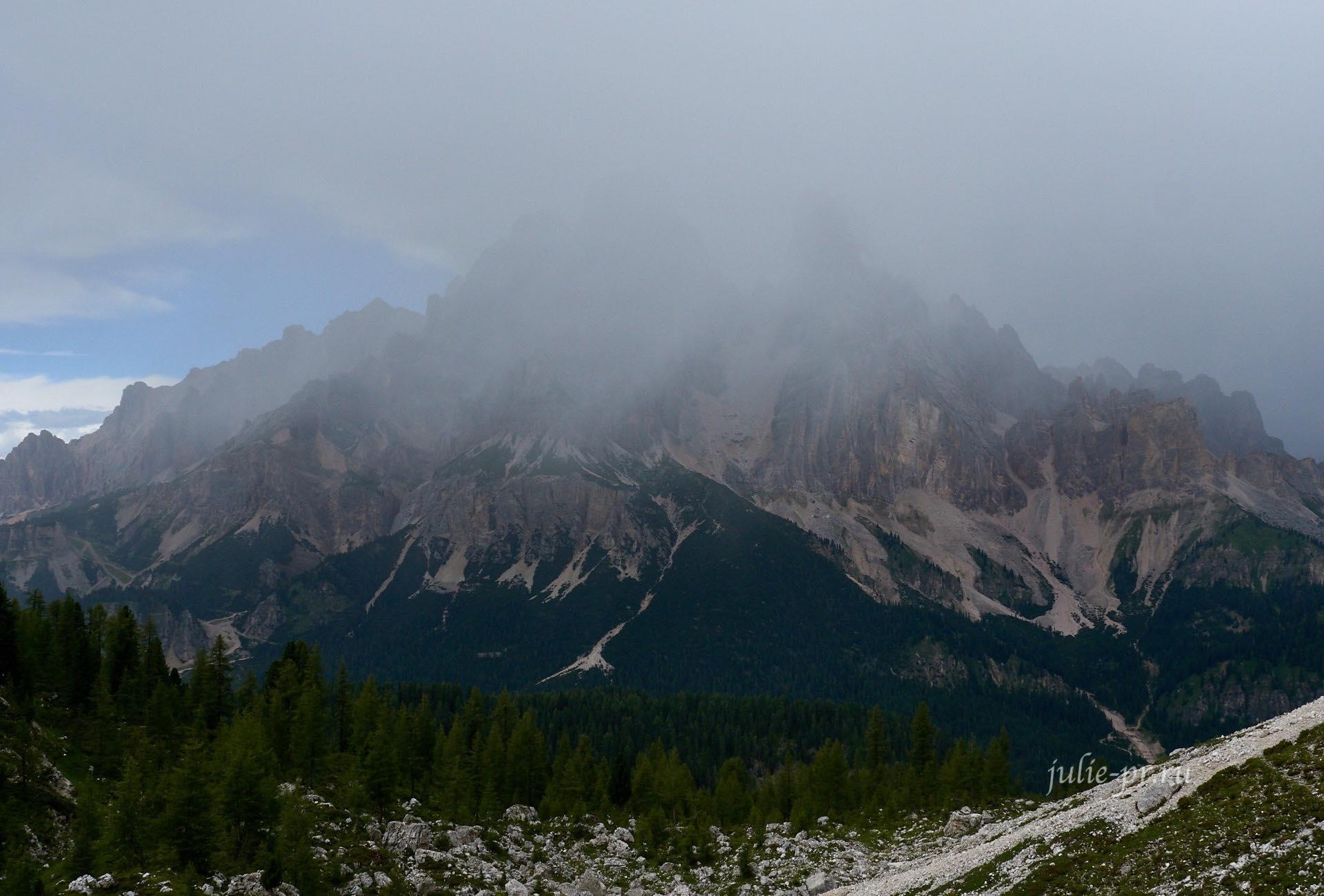 Италия, Альпы, Доломиты, Дождь