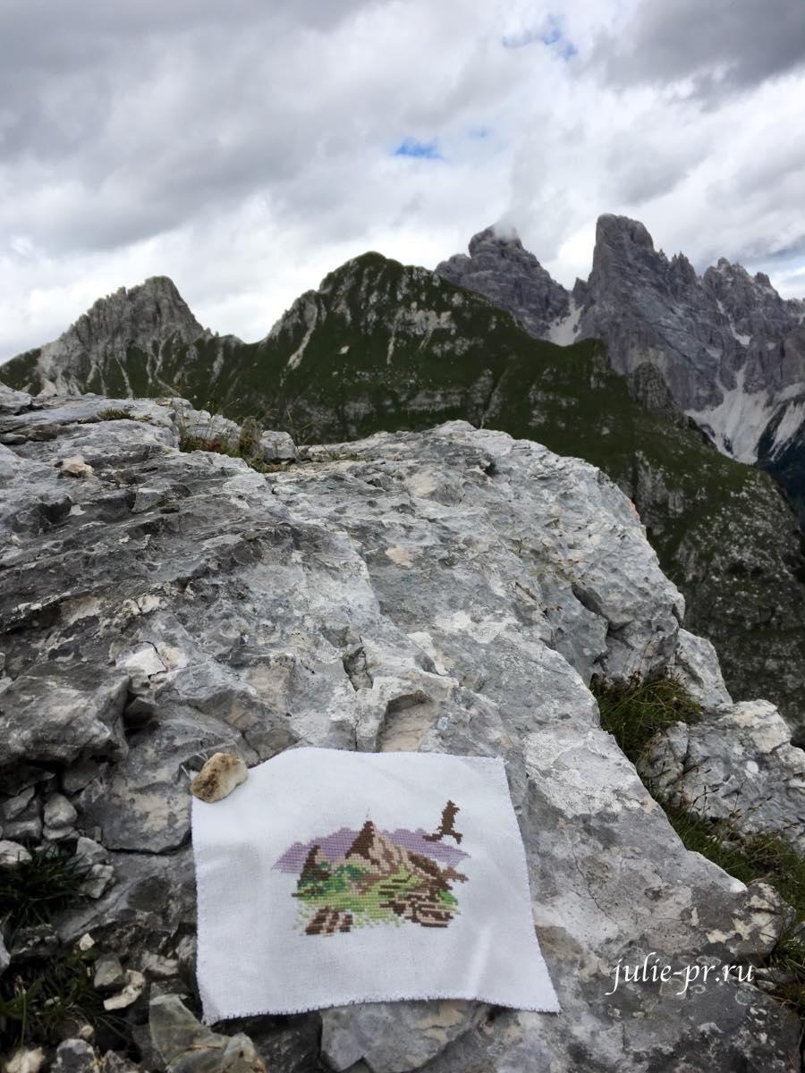 Вышивка крестом Veronique Еnginger Souvenir de montagne, Доломиты, Альпы