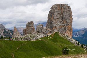 Италия, Альпы, Доломиты, Cinque Torri