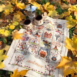 Осенний шебби календарь