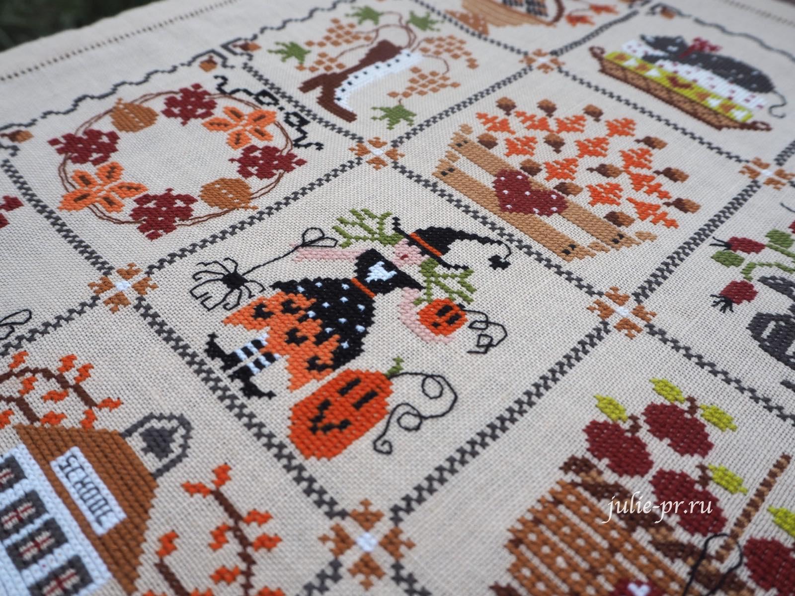 вышивка крестом, Cuore e batticuore - Shabby Autumn Calendar, осенний шебби календарь