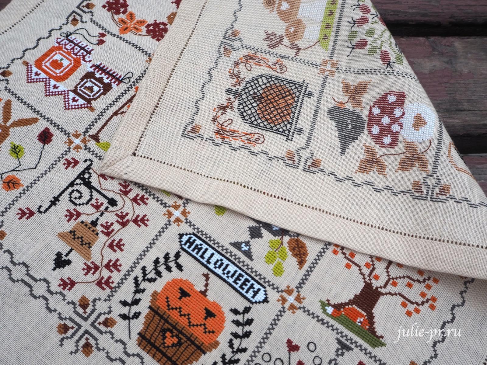 вышивка крестом, Cuore e batticuore - Shabby Autumn Calendar, осенний шебби календарь, идеальная изнанка