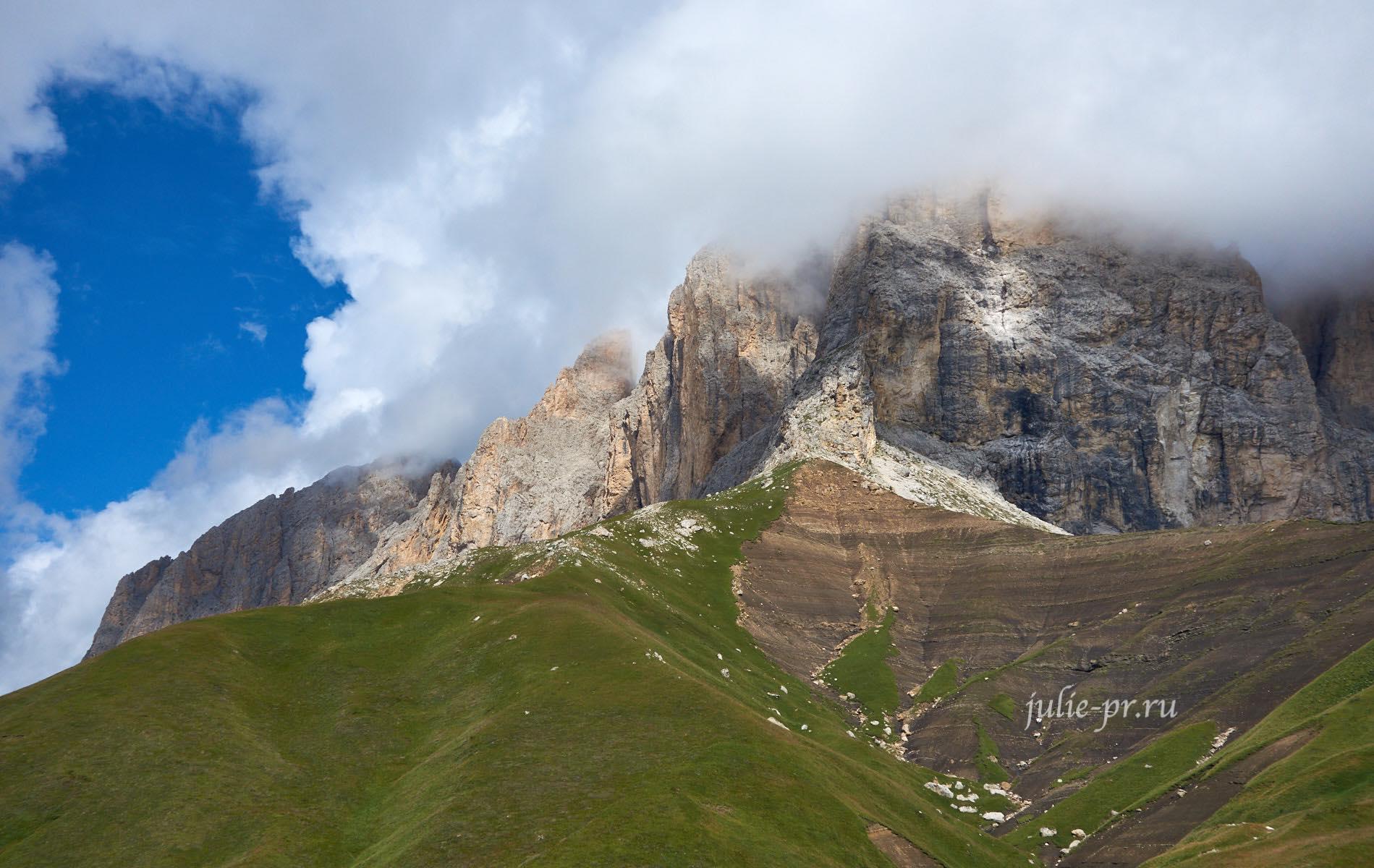 Италия, Альпы, Доломиты, Sassolungo