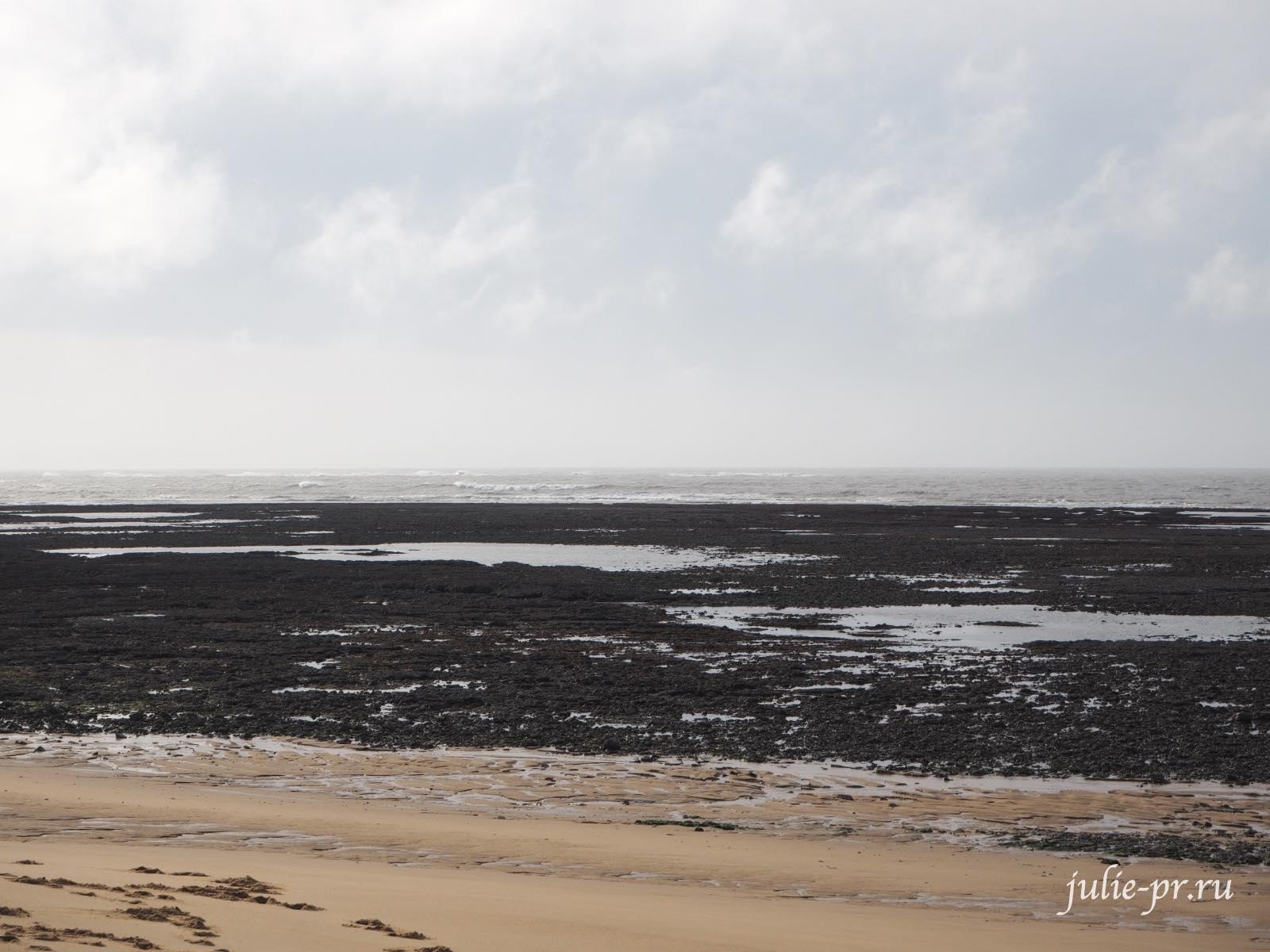 Франция, остров Олерон, пляж мата, plage de Matha, Атлантический океан
