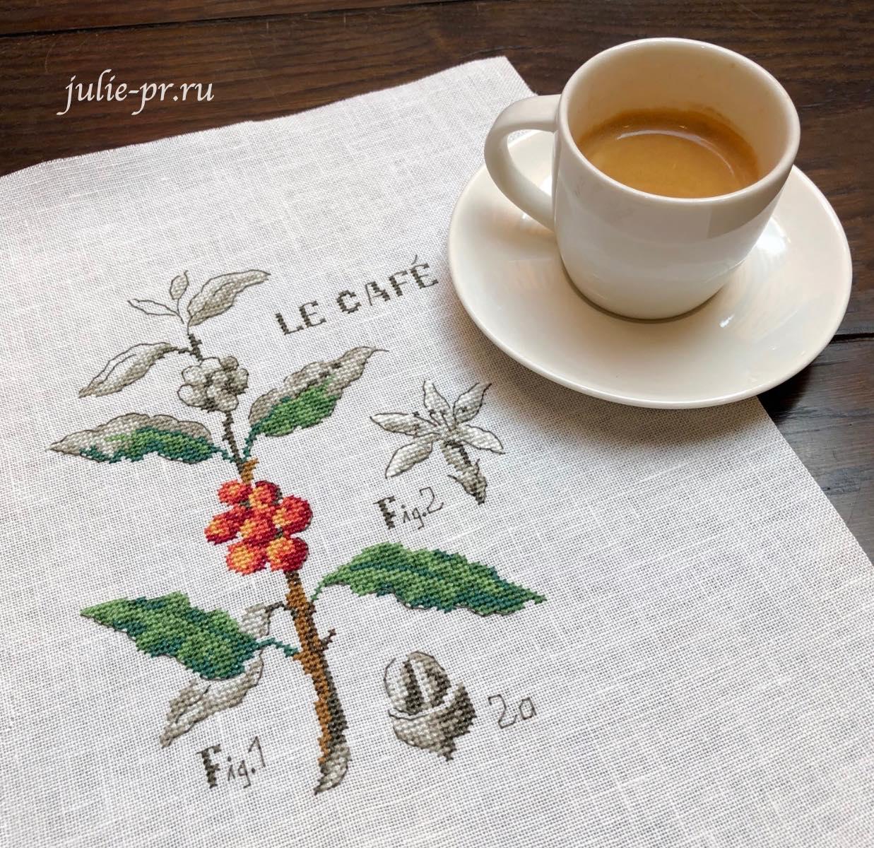 вышивка крестом, Veronique Enginger, кофе, ботаника, ботанический этюд, Кофейная ботаника, etude botanique cafe, вышивка и кофе
