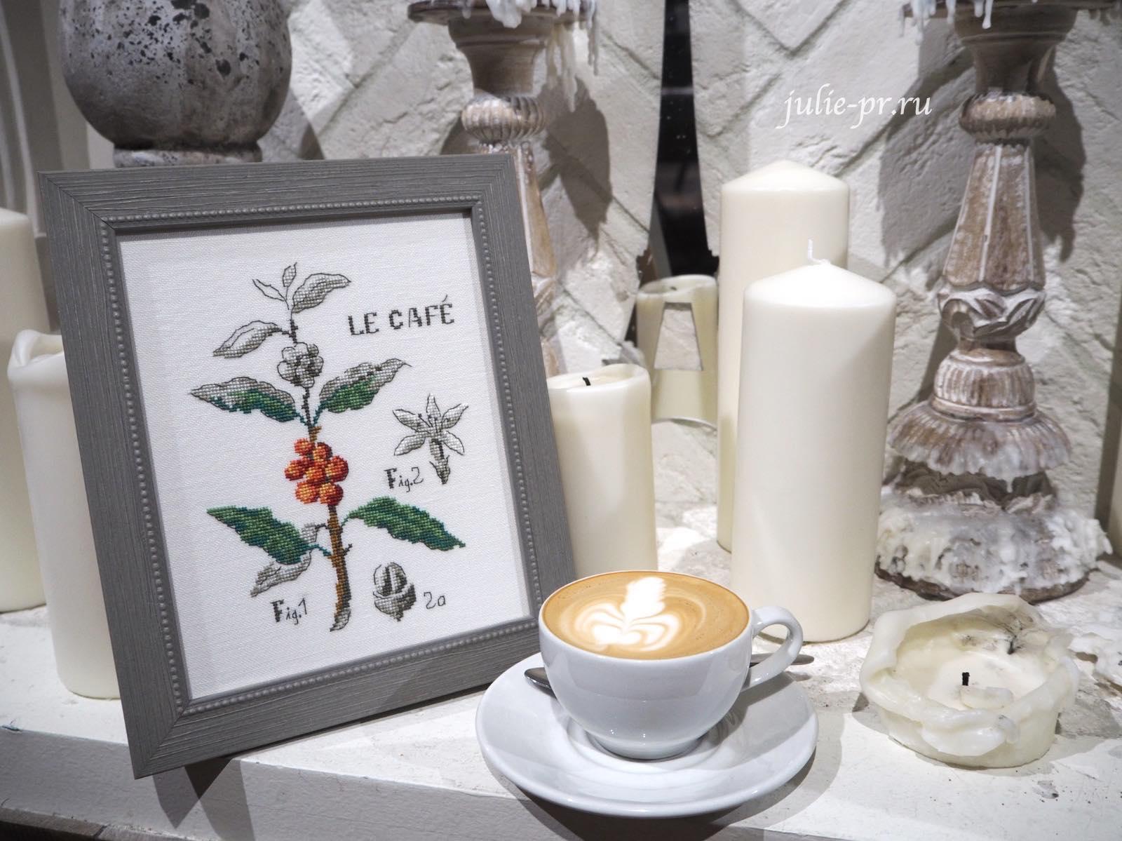вышивка крестом, Veronique Enginger, кофе, ботаника, ботанический этюд, Кофейная ботаника, Etude Botanique Cafe