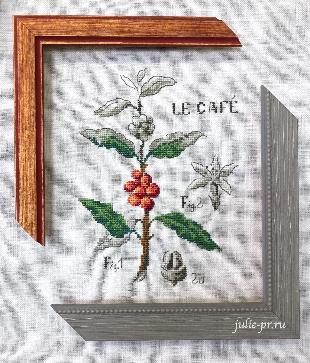 Багетная мастерская Багира, вышивка крестом, Veronique Enginger, кофе, ботаника, ботанический этюд, Кофейная ботаника, etude botanique cafe, как оформить, багет