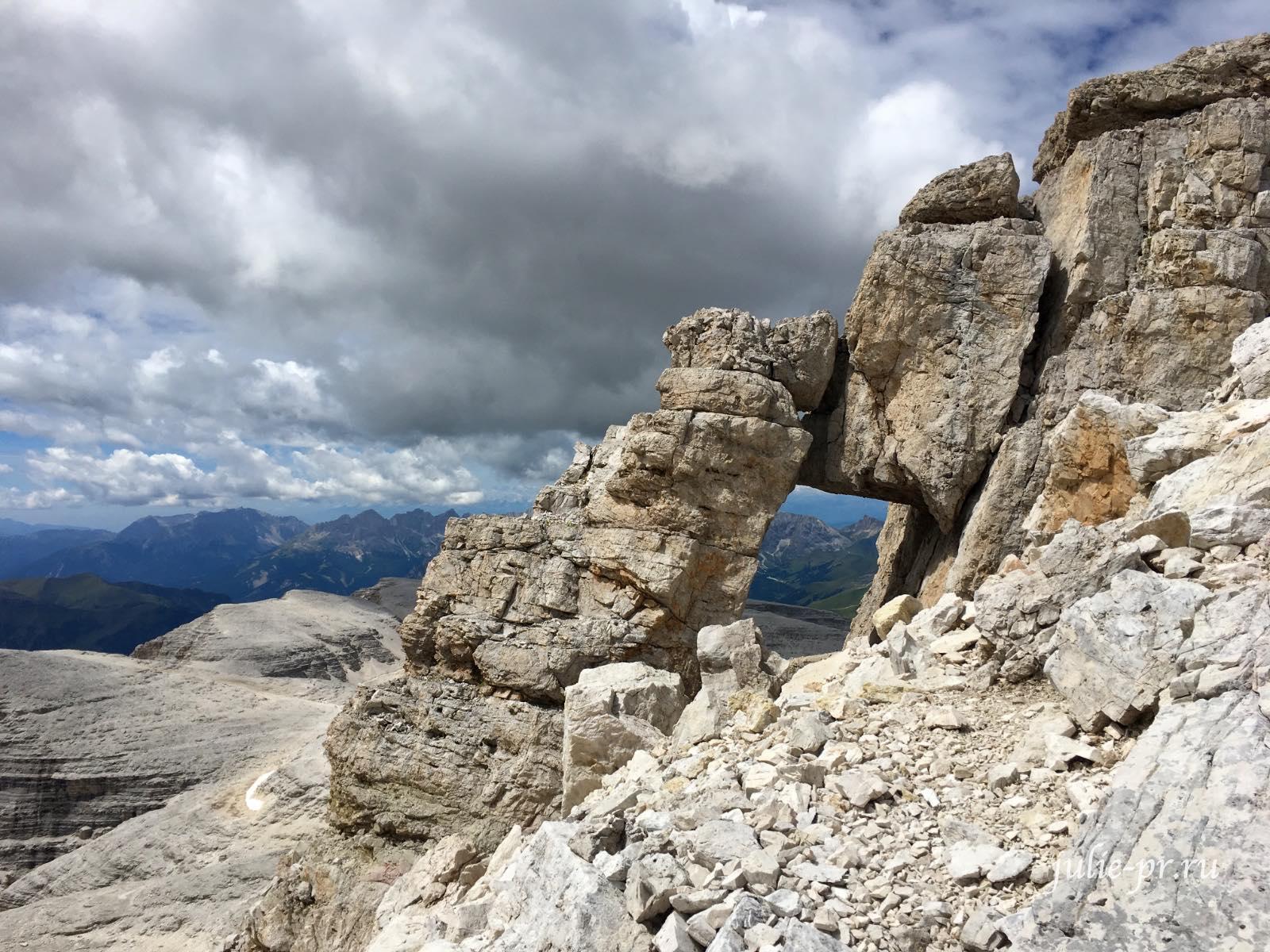 Италия, Альпы, Доломиты, Туристы, Sella